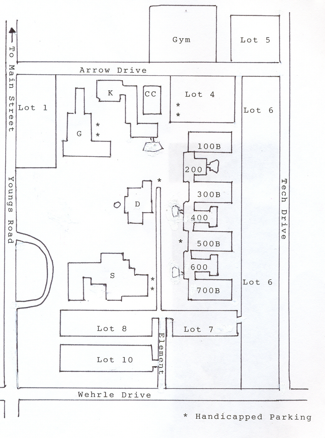 Map of North Campus